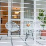 0304 Стильная квартира в центре города Терраса