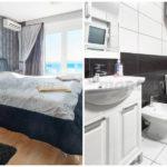 Роскошная вилла с бассейном у моря Спальня 1 и ванна